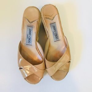 JIMMY CHOO AUTHENTIC NUDE WEDGE